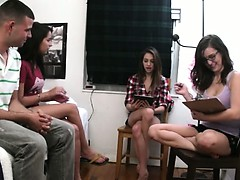 Teen teenagers playing with...