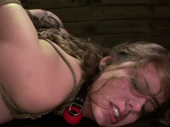 Deep throating slave fingered