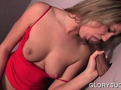 Blonde masturbates cunt and...