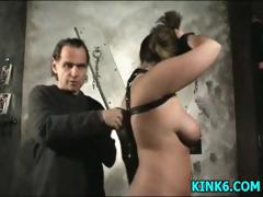 Sexy bitch gets hog tied...